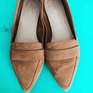 Also suede flats. 9